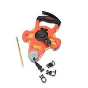 Lufkin Ps1706 1/2-Inch X 100 Pro Series Hi-Viz Orange Open Reel Linear Fiberglass Tape