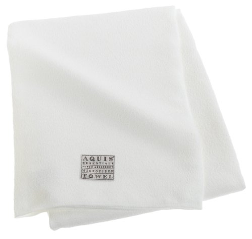 Aquis Microfiber Body Towel, Lisse Crepe, White (29 x 55-Inches)