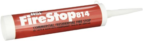 NSI Industries FS-814 Firestop814 Residential and Non-Intumescent Commercial Fire Stop, 10.3 oz Caulk Tube, Red