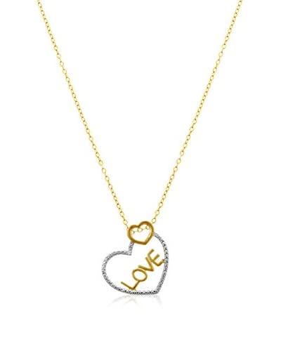 Adoriana Two-Tone Diamond Love Necklace