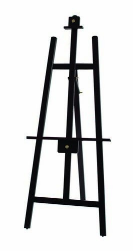 Winco MBBE-3 Wooden Display Easel, 62-Inch by 24-Inch, Mahogany