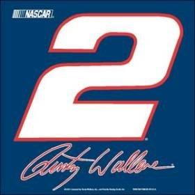 Rusty Wallace NASCAR Car Flag by Hall of Fame Memorabilia