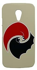 ImagineDesign(TM) Premium Hard Back Case Cover for MOTOROLA MOTO G2 G 2ND GENERATION (Batman Vs Superman)