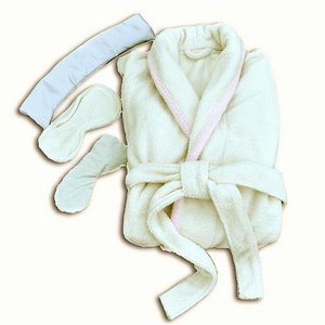Hotel Luxury Spa Aromatherapy Robe & Eye Pillow Set with Thermal Pouch