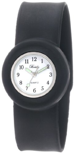 "Breda Women's ""Lilly"" Black Slap on Silicone Watch Set"