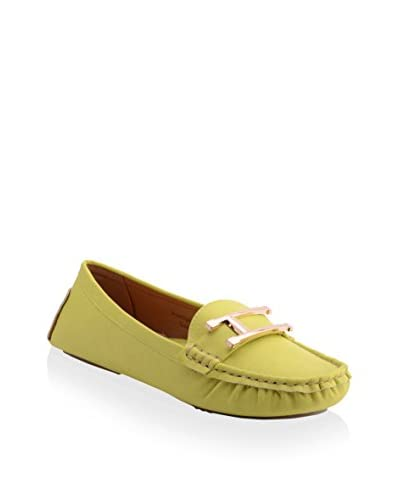 Henry Ferrera Women's Prestige 300 Driving Loafer  [Yellow]