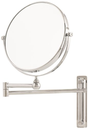 Danielle 10X Magnification Adjustable Round Wall Mount Mirror