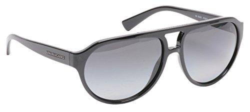 1660cb682dfe Armani Exchange Mens Sunglasses (AX4042S) Black/Grey Plastic - Polarized -  59mm