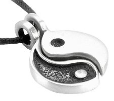 YIN YANG Friendship PEWTER PENDANT Necklace