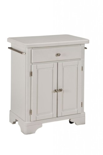 Cheap Kitchen Cart with Wood Top in White Finish (VF_HY-9003-0021)