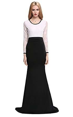 zeagoo damen lange kleider abendkleid cocktailkleid mit. Black Bedroom Furniture Sets. Home Design Ideas