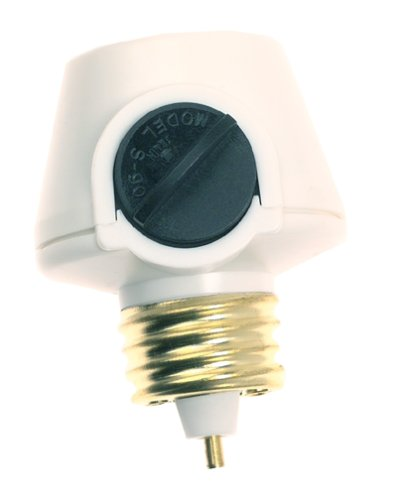 Westek 6009B 100W Full Range Lamp Socket Manual Dimmer, White
