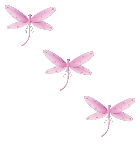 Hanging Dragonfly Pink Nylon Dragonflies With Sequins And Glitter For Baby Nursery Bedroom Décor, Girls Room Ceiling Wall Décor, Wedding Birthday Party, Baby Bridal Shower Decoration