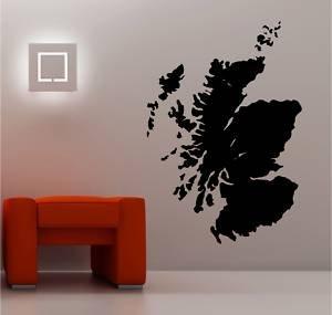 Online Design Huge Map Of Scotland Wall Art Sticker Vinyl