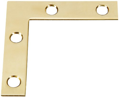 Stanley Hardware 2-Inch Flat Corner Brace, Bright Brass, 4-Pack #803830700 (Brass L Bracket compare prices)