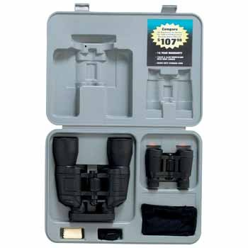 "2Pc Binocular Set *** Product Description: 2Pc Binocular Set. This 2Pc Binocular Set Comes In A 15"" X 10-1/4"" X 3"" Gray Blow-Molded Case That Carries 10X50 Binoculars And 4X30 Binoculars. 10X50 Binoculars Feature Hinged 6"" Barrels, Center Wheel F ***"