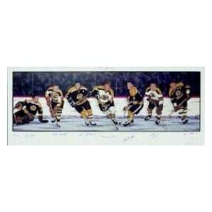 Amazon.com: Boston Bruins Hall Of Famers Lithograph (Bobby Orr ...