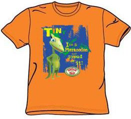 Dinosaur Train Kids Size PROUD TINY Youth Orange T-shirt