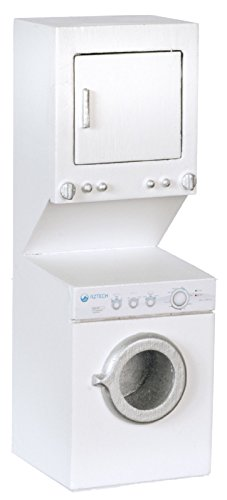 Dollhouse Miniature 1:12 Scale White Stacked Washer And Dryer #T5494 front-141109