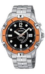 Seiko Men'S Ska411 Usa Sport 100 Kinetic Watch