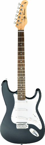 Jay Turser JT-300M-BK Solid-Body Electric Guitars, Black