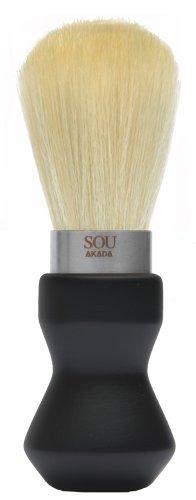 SOU AKADA シルクホイップブラシ シェービングサイズ ウレタン塗装 黒 100329