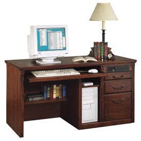 Buy Low Price Comfortable Deluxe Computer Desk For Huntington Office Furniture – Cherry (B001TA72EC)