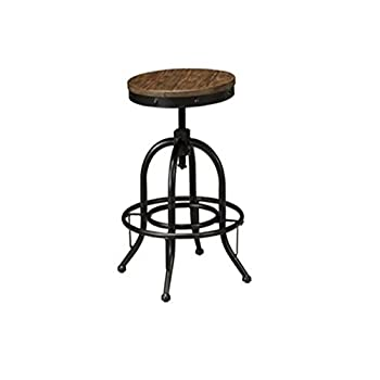 Signature Design by Ashley Pinnadel Swivel Stool, Light Brown, Set of 2, Counter Height