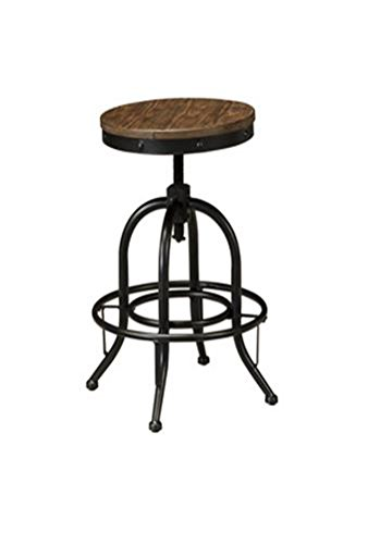 Signature Design by Ashley Pinnadel Swivel Stool, Light Brown, Set of 2, Counter Height 0
