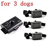 ATC Invisible Wired Electric Dog Fence Shock Collar System  3 Dogs