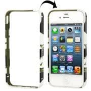 Camouflage Pattern Removable Metal Bumper Frame Case for iPhone 4 4S