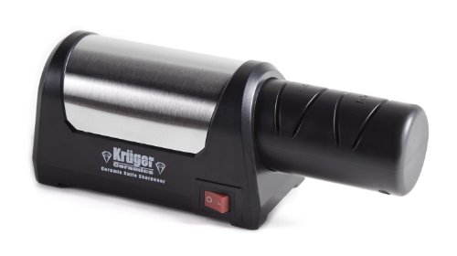 Kruger Ceramics Electric 4-Wheel Diamond Coated Knife Sharpener For Ceramic Knives