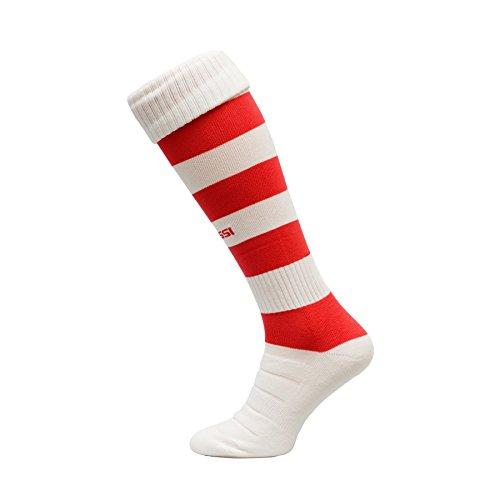 calcio-calzettoni-modello-c-calcio-calze-calzettoni-100-traspirante-molti-colori-bianco-rosso-38-41