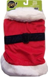 Dog Costume Santa Coat Christmas Jacket Large 18-28 Lbs