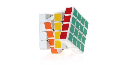 Shengshou 4X4X4 Brain Teaser Magic Iq Cube-White - (Premium Quality)