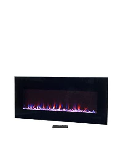 Northwest 36 LED Fire & Ice Electric Fireplace with Remote, Black