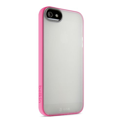 Belkin Grip Candy Sheer Case / Cover for iPhone 5 and 5S (Clear / Pink)