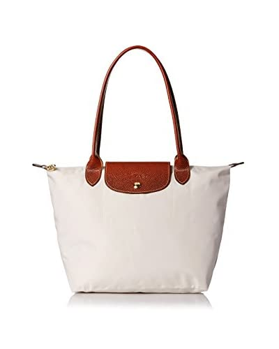 Longchamp Women's Le Pliage Sac Shopping Shoulder Bag, Ecru