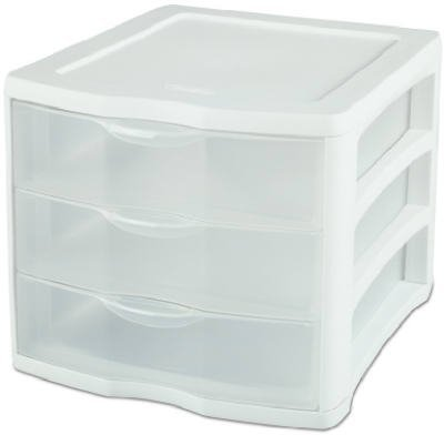 Sterilite ClearView 3 Storage Drawer Organizer (Stackable Storage Drawers compare prices)