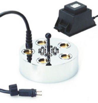 Five Disk Pond Fogger Kit with LED Lights