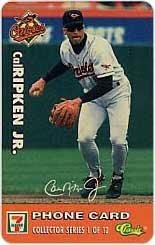 Collectible Phone Card: 15M 7-Eleven Major League Baseball: Cal Ripken, Jr./ Orioles (#1/12)