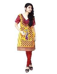 Indiavillage Womens Knee Length Kurta - B01116O4BC