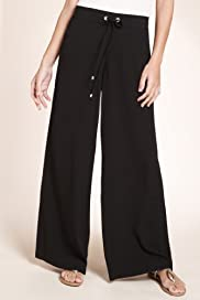 Plait Waist Wide Leg Beach Trousers [T52-1392-S]