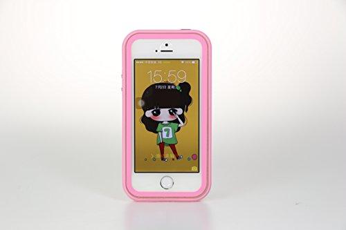 【全4色】IVSO オリジナルiPhone 6(4.7インチ) 専用上質PUレザーケース 完全防水・防塵・防磨耗 超薄型 最軽量 スマートフォンケース 専用防水防塵ケース 防水防雨防磨耗のシリーズ (レッド)