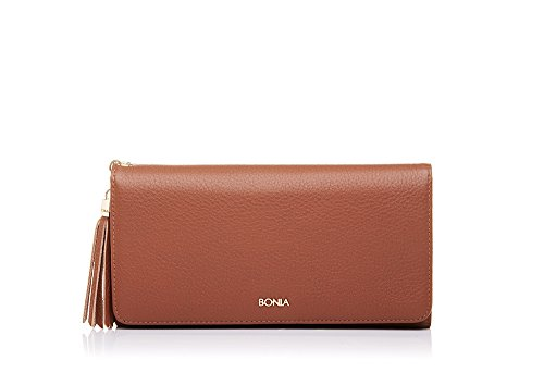 bonia-womens-brown-tassel-flap-purse