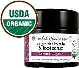 Herbal Choice Mari Organic Body & Foot Scrub 155g/ 5.4oz Glass Jar