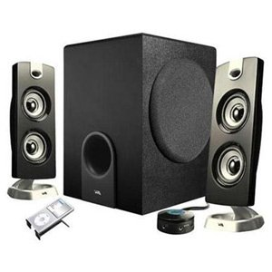 Cyber Acoustics 30 Watt Powered Speakers with Subwoofer for PC and Gaming Systems in Frustration Free Packaging, (CA-3602a)
