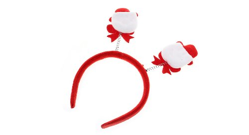 Festive Christmas Party Decoration Headband Hair Band-Snowman, Red + White - (Premium Quality)