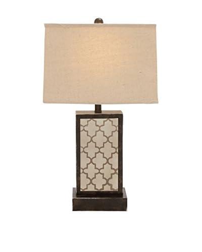 Wood & Metal Table Lamp, Cream