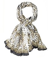 Autograph Pure Modal Lightweight Feather Print Scarf